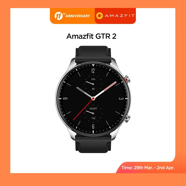 2021 nowy Amazfit GTR 2 Smartwatch 14 dni żywotność baterii 326ppi wyświetlacz AMOLED muzyka 5ATM pewna kontrola czasu monitorowanie snu