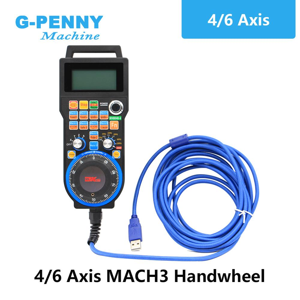 XHC 4 Axis / 6 Axis MACH3 USB CNC Handwheel MPG Manual USB Wire Cable 5 Meters For Lathe And Turning Center CNC Engrave Machine