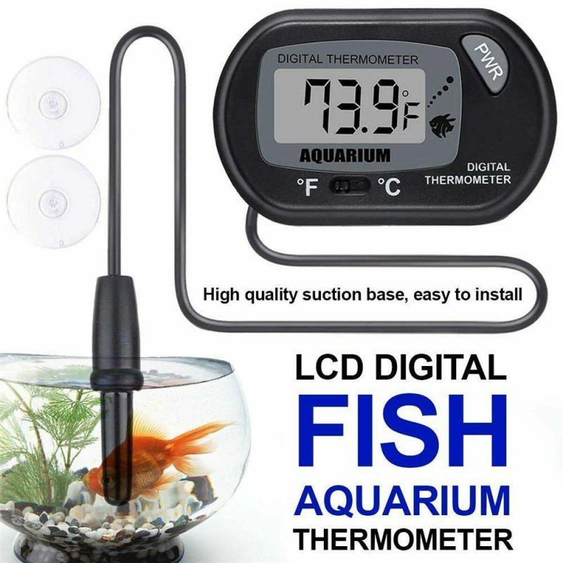 New Arrival LCD Digital Fish Tank Aquarium Thermometer Submersible Water Temperature Meter Temperature Control Dropship