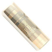 Foil Masking-Tape Adhesive Washi Gold Paper Black 10rolls/Set Decorative Scrapbooking