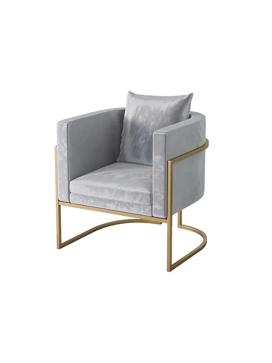 Sofa Nordic Plugin Single Net Red Sofa Modern Fashion Nail Clothing Store Wrought Iron Sofa Chair
