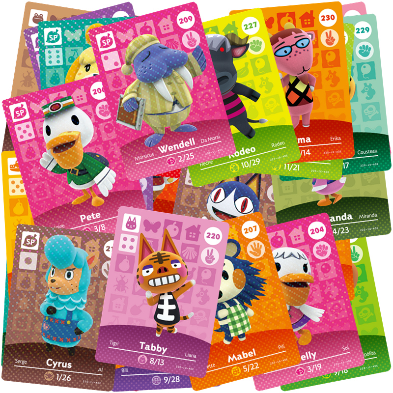 Series 3 (201 to 240) compatible Amiibo Game Card Series Animal Crossing Card Suitable for NS Villager Cames image