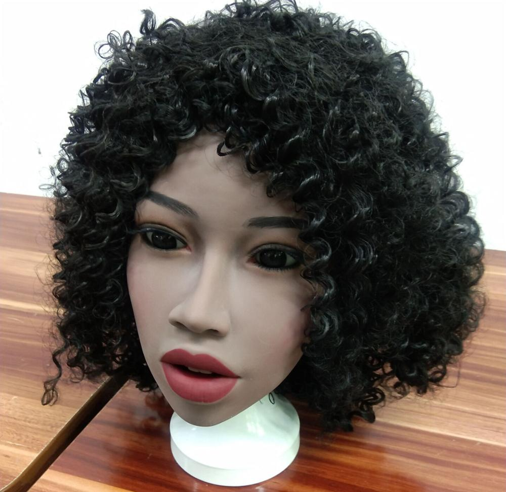 New Africa <font><b>Black</b></font> Skin <font><b>Sex</b></font> <font><b>Doll</b></font> Head Real Oral Full Silicone <font><b>Sex</b></font> <font><b>Doll</b></font> Head for <font><b>Adult</b></font> Love <font><b>doll</b></font> heads image