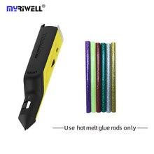 Myriwell quente melt pistola de cola 3d caneta usb profissional de carregamento cola vara ferramenta de fixação de seda o melhor presente RS-100A melhores vendedores