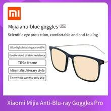 Xiaomi Mijia anti niebieskie Mi komputerowe okulary Pro anty niebieski promień UV zmęczenie dowód oczu Protector Mi Home TS szkło