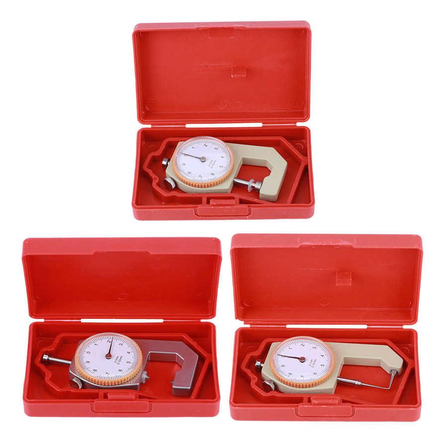 Измеритель толщины кожи и серебра, портативное устройство для точных измерений ювелирных изделий и изделий из кожи, 0-10 мм, для ручного измер...