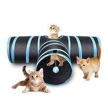 Лидер продаж, 3/4/5 отверстий многоцветный складной Pet туннель для кошек для дома и улицы для домашних животных кота обучающая игрушка для кошки; тапочки с кроликом; шлёпанцы для игровой туннель трубки
