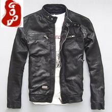 Men Leather Jacket 100% Genuine Real Sheep Goat Skin Brand Black Male Bomber Motorcycle Biker Man's Coat Autumn Spring Clothes
