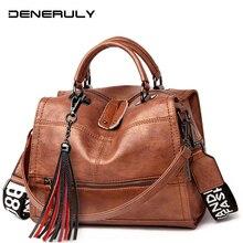 2019 Famous Brand Women Handbags Genuine Leather Bag Women Vintage Messenger