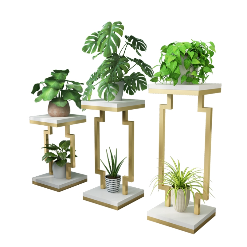 Nordic Wrought Iron Flower Stand Multi-layer Green Plant Pot Rack Living Room Indoor Hanging Orchid Several Balcony Floor