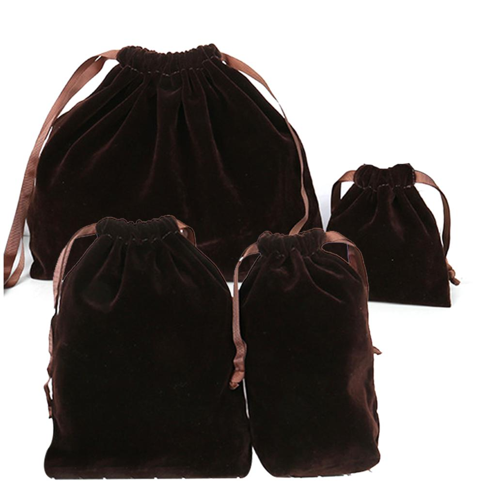 4PCS Packing Organizer Drawstring Velvet Bags Storage Pouches Gift Bag For Christmas Outdoor Travel Jewelry Packaging Accessory