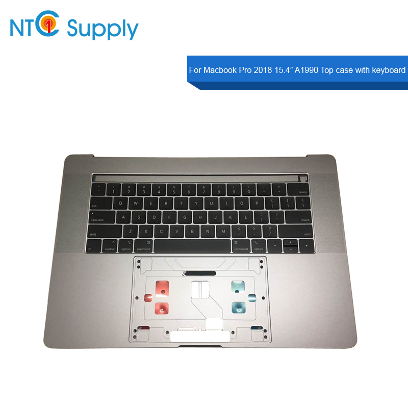 Ordinateur portable Nouveau A1990 Topcase avec clavier Gris Sidéral Argent US UK Pour Macbook Pro 2018 15.4