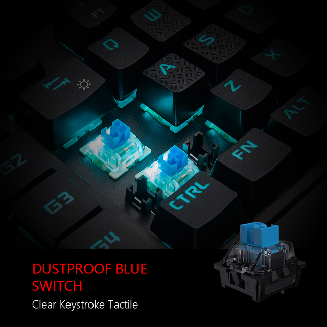 RedThunder One-Handed Mechanical Gaming Keyboard RGB Backlit Portable Mini Gaming Keypad Game Controller for PC PS4 Xbox Gamer 3