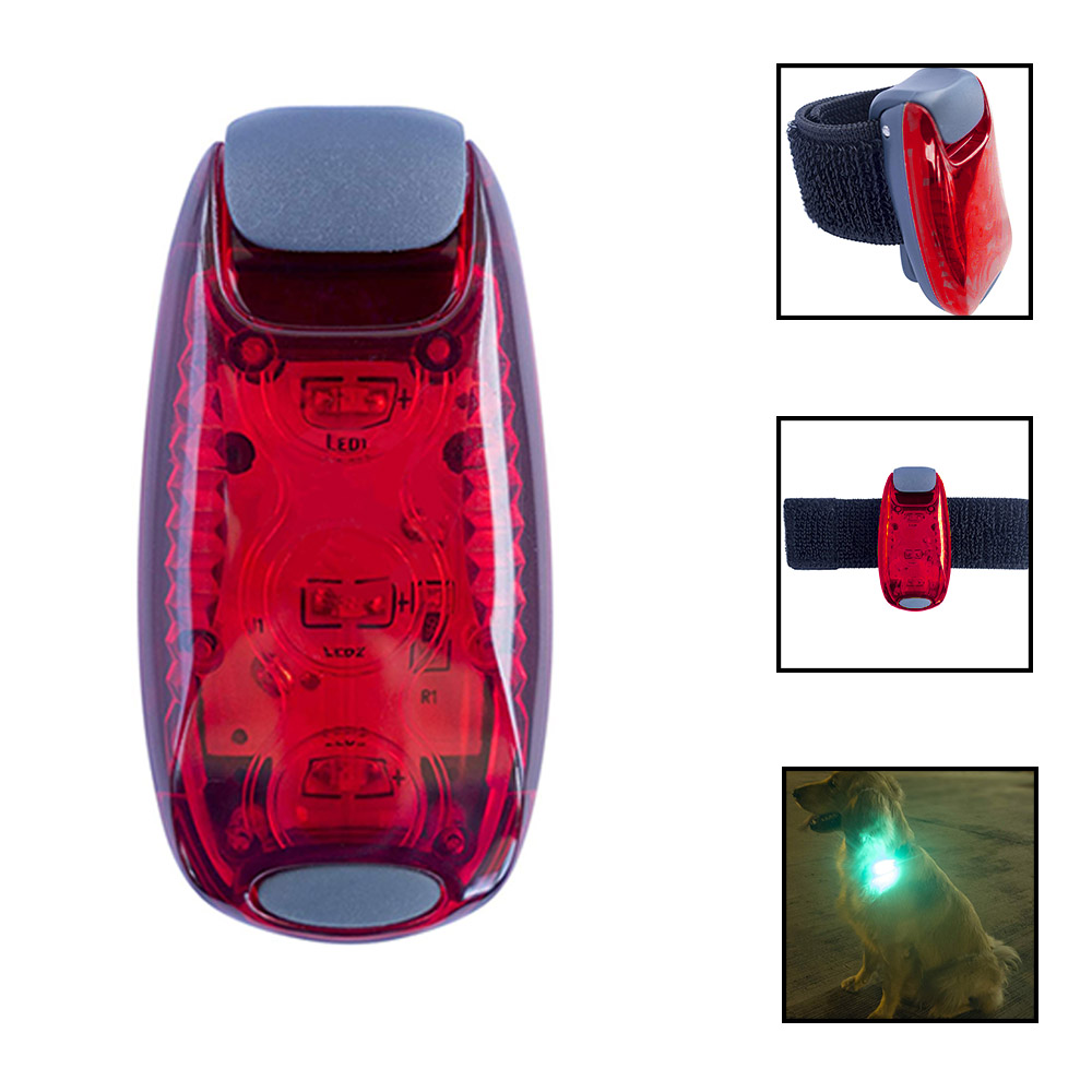 2pc LED Safety Light Clip On Strobe Running Lights Dogs Accessories Bicycle Taillights Outdoor Night Running Warning Lights