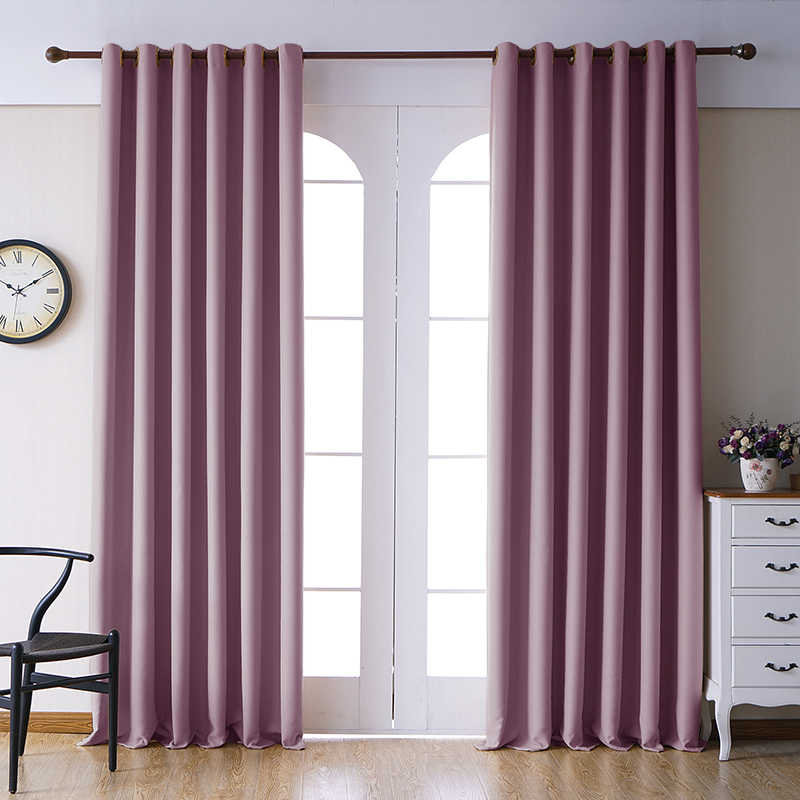 Blackout Curtains For Living Room Window Drapes Blinds Thick Curtains For Bedroom Kitchen Modern Finished Curtain High shading