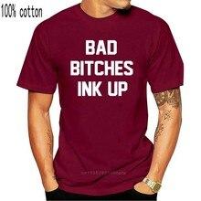 TSHIRT da CAMISA Tinta Up Tatuados Maus Cadelas T-Shirt Da Menina