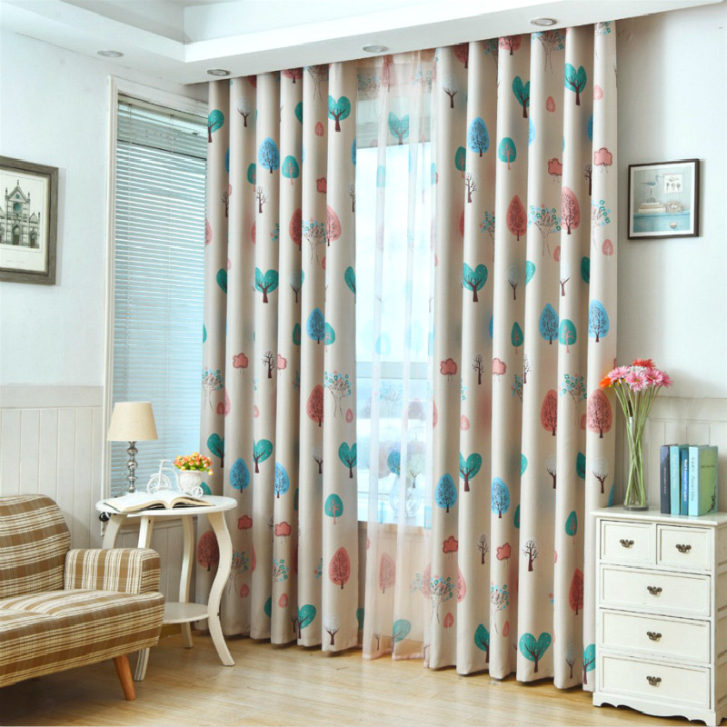 Boy Girl Bedroom Cortinas Living Room Blue Pink Coffee Blackout Curtains Custom Made Drapes Children Cloth Curtains For Kids Leather Bag