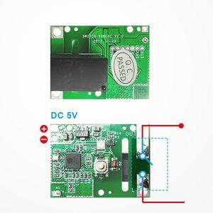 Image 4 - 5 adet SONOFF RE5V1C Wifi DIY anahtarı 5V DC röle modülü akıllı kablosuz anahtarları Inching/kendinden kilitleme mod APP/ses uzaktan açma/kapama