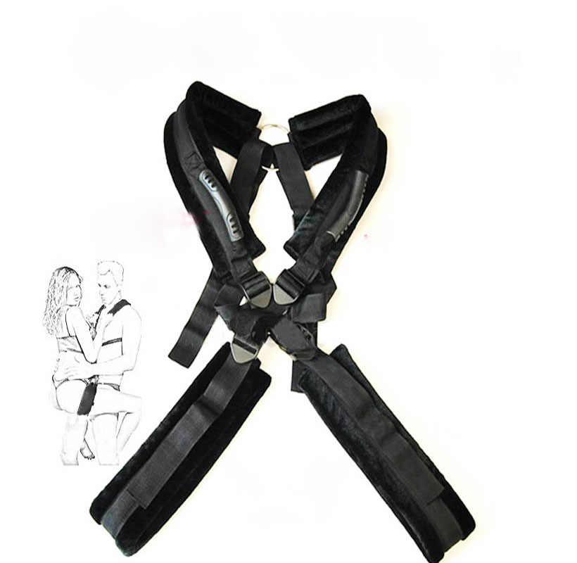 에로틱 BDSM 포지셔닝 붕대 더블 어깨 섹스 스윙 오픈 다리 커플 수갑 스윙 섹스 토이 여성-50
