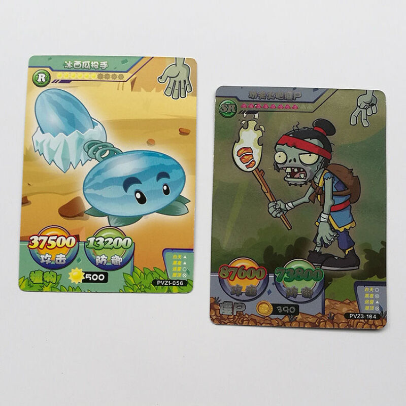 240pcs/set Plants Vs Zombies Big Wave Beach Cards Plants Zombies Platinum Collect Card Pea Shooter Sunflower Trade Card Kid Toy 3