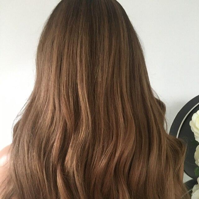 13x4 Spitze Front Menschliches Haar Perücken Seide Basis Ombre Braun Blonde U Teil Natürliche Welle 360 Spitze Frontal perücke Remy Baby Haar Preplucked