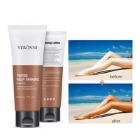 Suntan Self Tanning Cream Stay Bronze Self Sun Tan Tanning Enhance Day Tanning Cream Face Body Bronzer Sunscreen Tanner Lotion 2