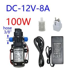 Image 5 - Pompe à eau haute pression, 12 v, 60/80/100w, pour lavage de voiture et irrigation, avec adaptateur 12 v