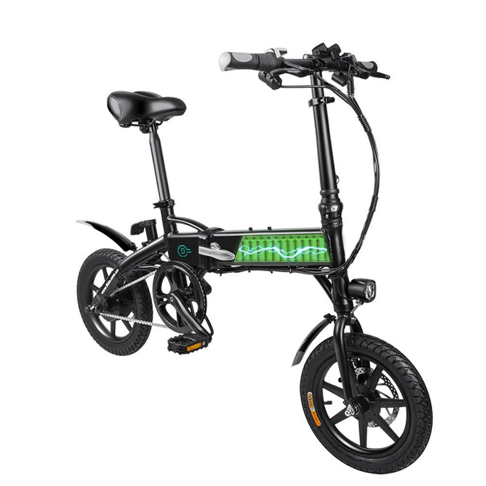 D1 Fiido Folding Moped Electric Bike E Bike Scooter Bicycle With Inflatable Rubber Tire 14inch