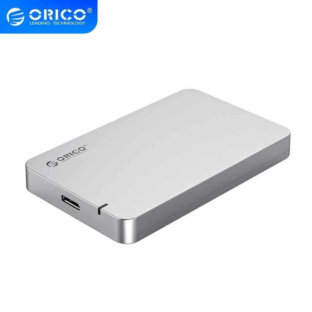 ORICO caja de cierre HDD de 2,5 pulgadas SATA a USB 3,0 herramienta de Funda de disco duro libre soporte UASP para Windows 10/8/7/Vista/XP Mac