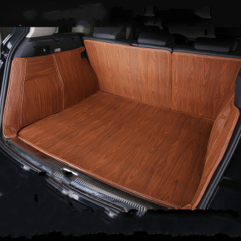 Wood Grain Full Surround Waterproof Carpets Boot Custom Special Car Trunk Mats for Nissan Patrol GT-R 270Z NV200 X-Trail Fuga image