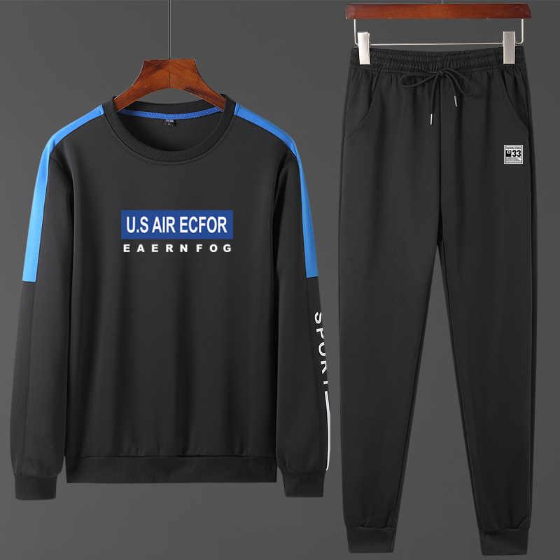 ملابس رياضية للرجال ربيع 2020 طقم رياضي رجالي بدلات رياضية مخملية مجموعات O الرقبة طويلة الأكمام هوديي + بنطلون رجل ملابس خارجية بدلة sweat606