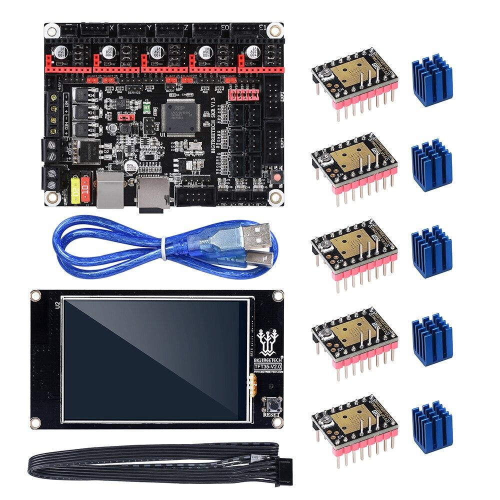 Bigtreetech skr v1.3 32 bit placa-mãe com tft3.5 v2.0 tela de toque tmc2208 tmc2130 uso smoothieboard para a8 ender impressora 3d