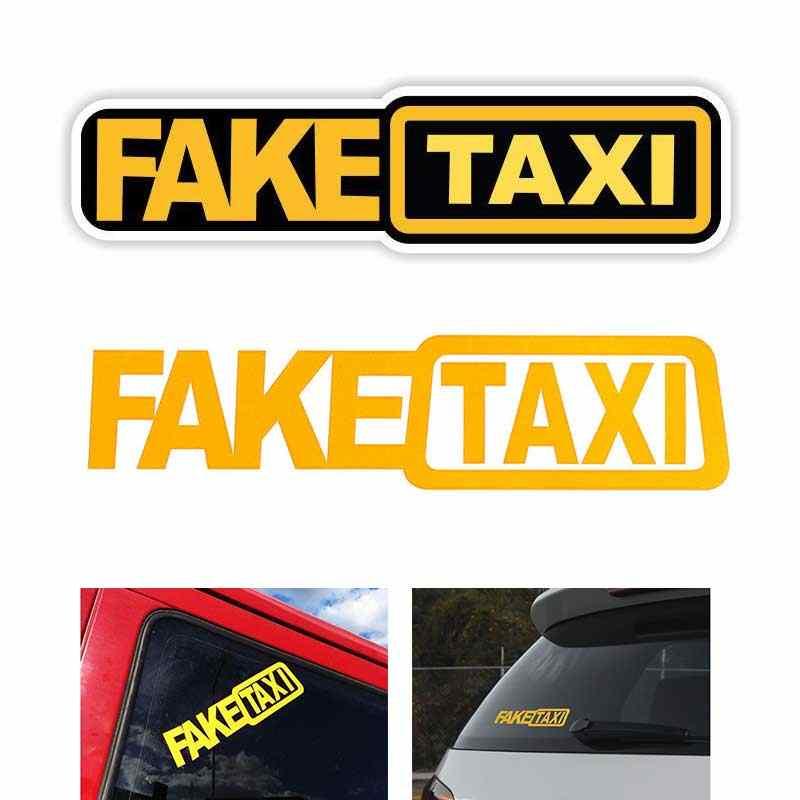 Sahte taksi yansıtıcı araba oto Sticker pencere Van vinil çıkartması kendinden yapışkanlı amblem rozeti Honda Toyota VW BMW araba şekillendirici