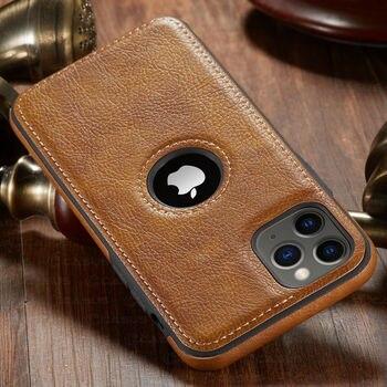 Pour iphone 11 11 Pro 11 Pro Max étui de luxe en cuir d'affaires couture housse pour iphone XS Max XR X 8 7 6 6S Plus étui 2