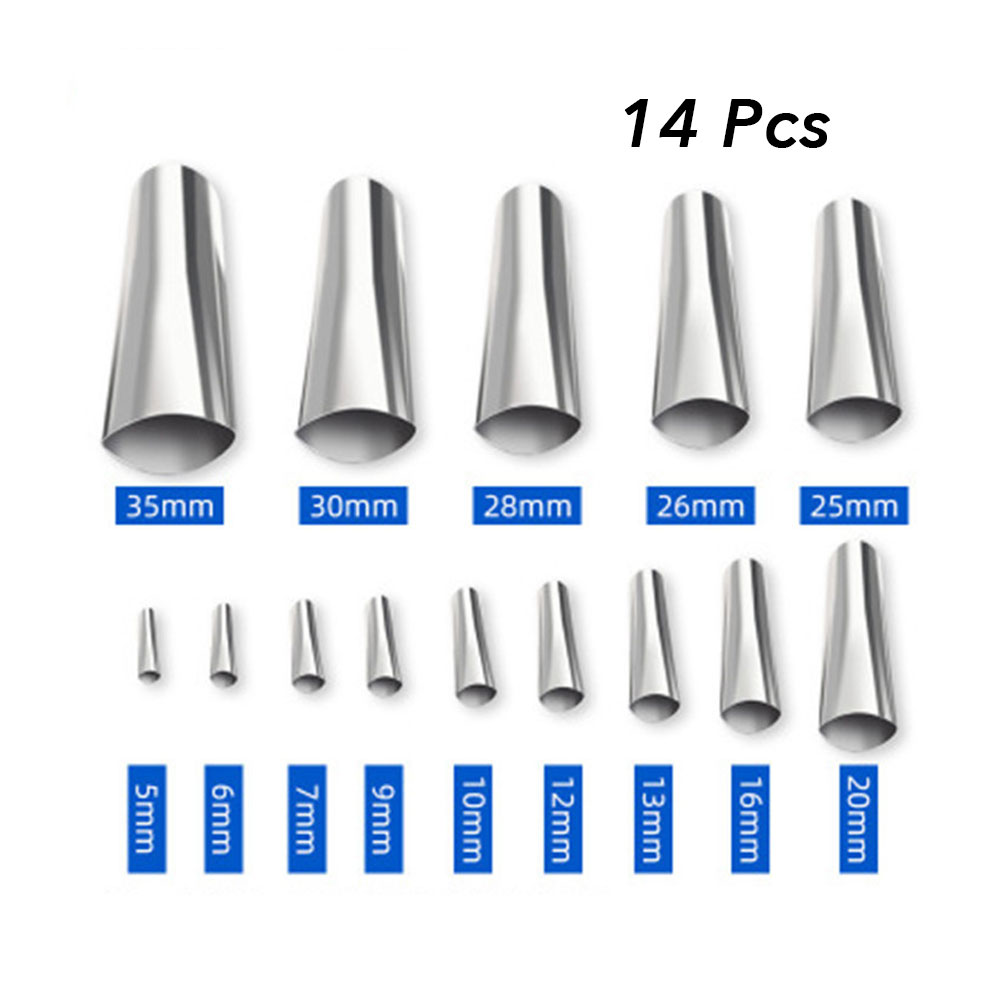 14PcS Caulk Nozzle Applicator Caulking Finisher Stainless Steel Sealant Finishing Tool Kit