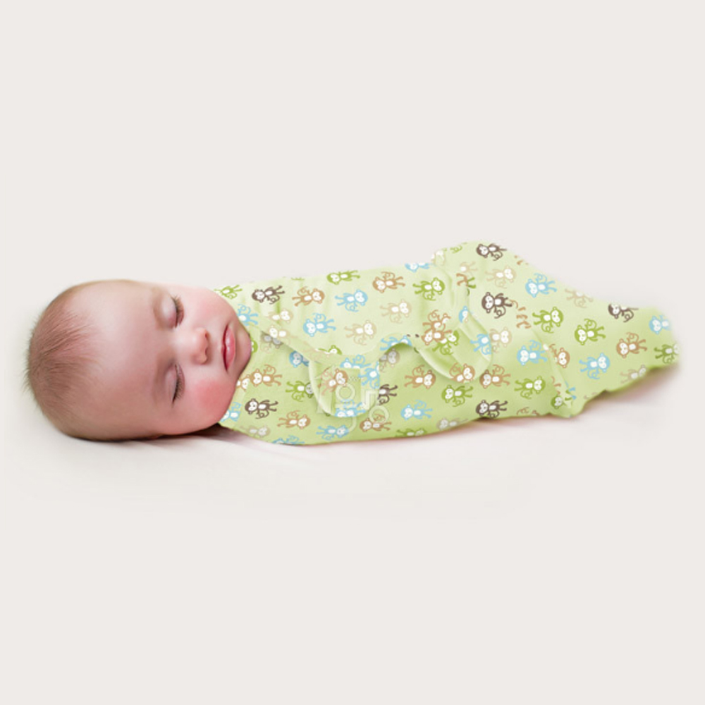 Newborn Baby Sleeping Bag Envelope Wrap Cocoon Soft 100% Cotton Swaddling 0-3 Months Prevents Startle Reflex Sleeping Bag