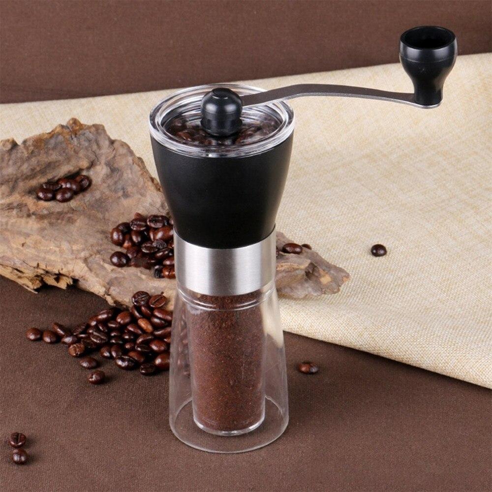 350ml szlifierka ręczna ręczny młynek do kawy plastikowy ekspres do kawy ręczny młynek do kawy ceramiczny rdzeń szlifierski zmywalny młynek