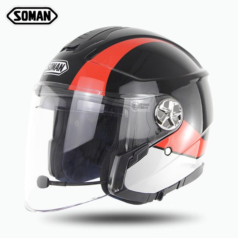 Зоман шлем измельчитель с Bluetooth гарнитура для мотоциклетного шлема с открытым лицом Capacetes однотонные Casco Moto шлем Casco Para леди