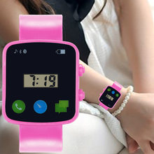 Kids Electronic Watch Children Comfortable Silicone Strap Square Dial Sports Watches for Boys Girls SSA-19ING(China)