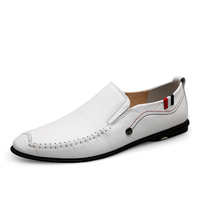 Handmade Shoes Loafers Italian Genuine-Leather Luxury Wedding-Zapatos Soft Hombre