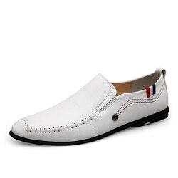 Homens sapatos de luxo Sapatos Artesanais Genuínos Mocassins de Couro Macio Sapatos de Festa Vestido Sapatos de Casamento Italiano Zapatos Hombre