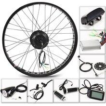"E bicicleta elétrica kit roda do motor 36 v 350 w 26 ""4.0 bicicleta elétrica 10/13ah kit de conversão ebike mountain road bicicleta"