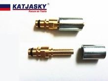 2 stks/partij Plug fittings met mouwen/socket voor Karcher K serie wassen slang, wassen pistool hogedrukreiniger, wassen auto