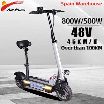 Patinete eléctrico plegable para adulto, Scooter Eléctrico de 48V, 800W/500W de más...