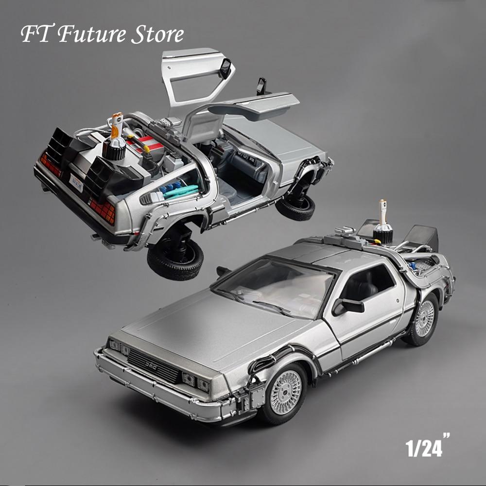 Welly Back To The Future Time Machine Delorean Set 1//24 Scale