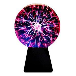 Image 3 - 8 インチプラズママジックボールランプタッチ静電球プラズマ電球ライトノベルティムーンテーブルランプクリスマス照明装飾ホーム