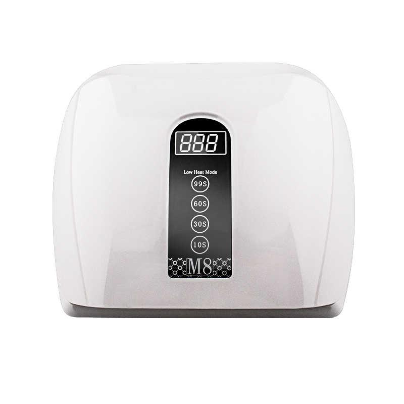 Macchina per asciugare lo smalto per unghie a due mani con lampada UV a LED a luce rossa 96W ad alta potenza per asciugare rapidamente tutto lo smalto Gel