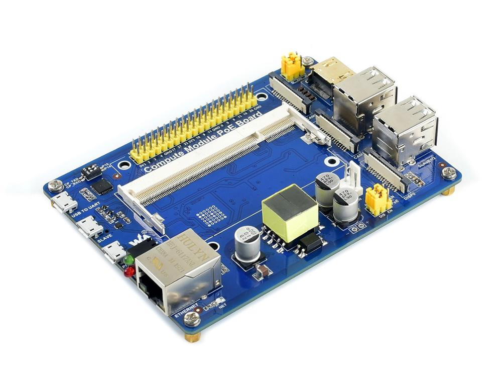 Waveshare Compute Module IO Board With PoE Feature, For Raspberry Pi CM3 / CM3L / CM3+ / CM3+L