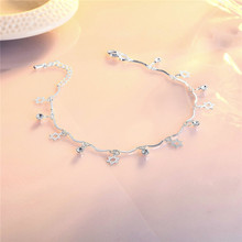 Charm Lady Silver 925 Sterling Anklets For Girls Accessories Fashion Zircon CZ Anklet Female Star Bijou