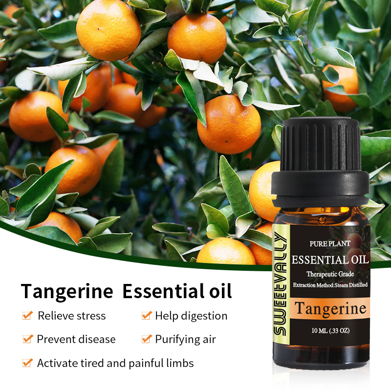 Natural Plant Perfume Oil Tangerine Lavender  Vetiver Essential Oil 10ml Water-soluble Fragrance Oil For Aromatherapy Diffusers